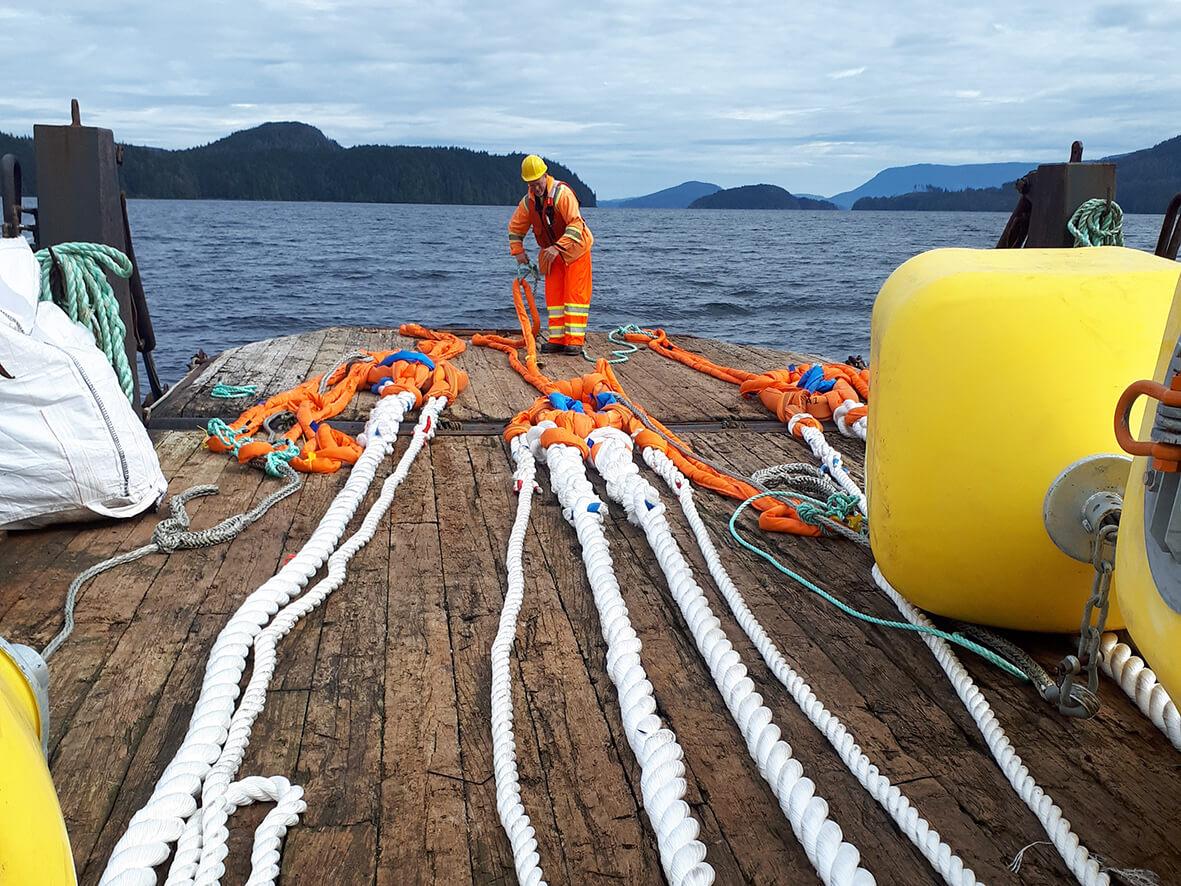 Mørenot Aquaculture_Forberedelser Flexilink